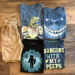 Boys Lot 8/10 Shorts Shirts Minecraft Disney
